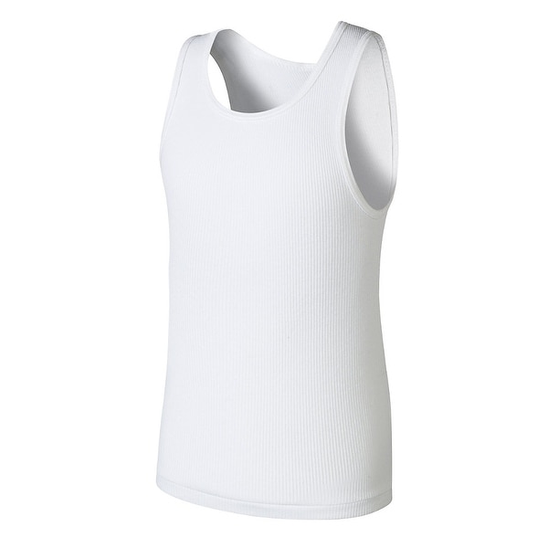 Boys' Hanes Ultimate ComfortSoft® White Tank Undershirt 5-Pack - L