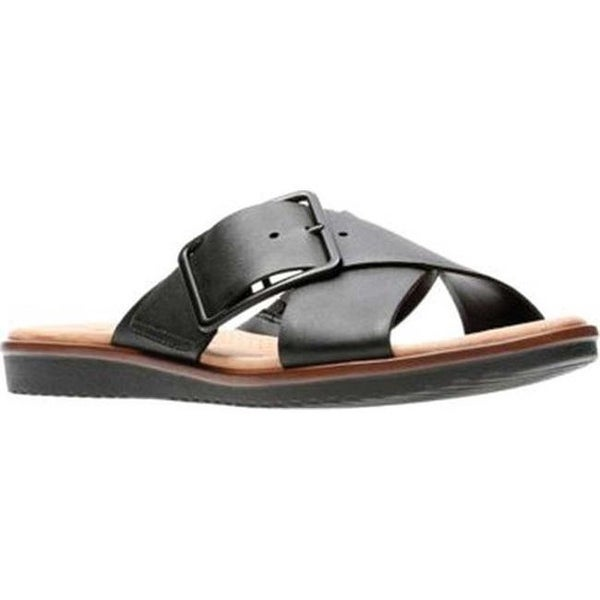 fd8270be7 Shop Clarks Women s Kele Heather Slide Black Full Grain Leather ...