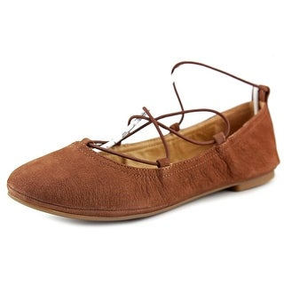 Lucky Brand Eaviee Round Toe Leather Ballet Flats
