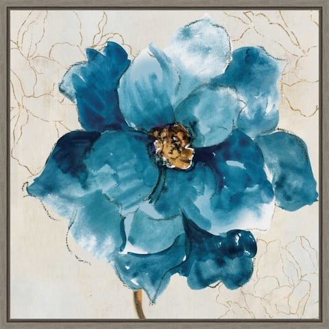 Ophelia I (Blue Flower) by Asia Jensen Framed Canvas Art