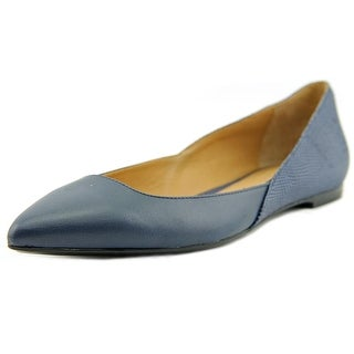 Calvin Klein Galice Pointed Toe Leather Flats