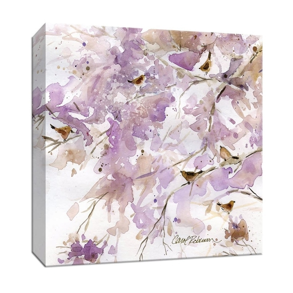 """PTM Images 9-147080 PTM Canvas Collection 12"""" x 12"""" - """"Lavender Spring II"""" Giclee Birds Art Print on Canvas"""
