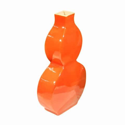 Handmade Flat Gourd Crackle Vase