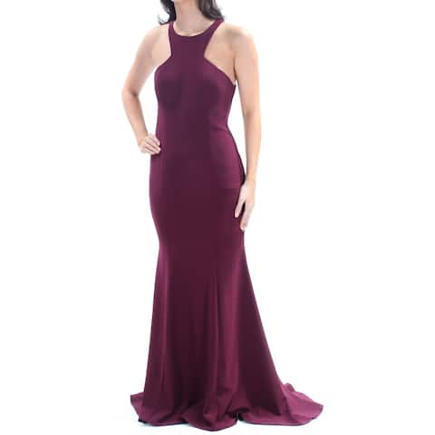 XSCAPE Burgundy Sleeveless Full Length Sheath Dress Size 6