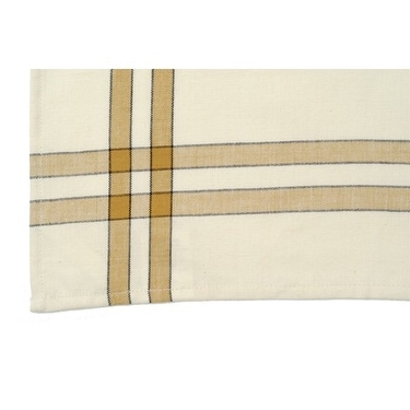 Dunroven House K360 PMK Tea Towel In Pumpkin And Cream With Black Stripe
