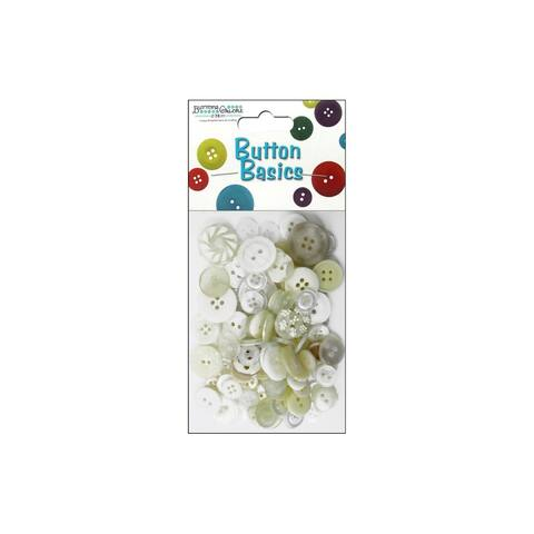 Buttons Galore Button Candy Bag 3oz White