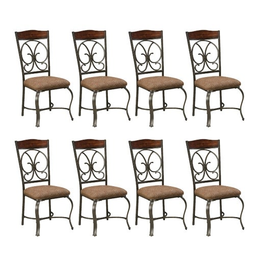 Glambrey Dining UPH Side Chair 4/CN Brown (8-Pack) Glambrey Dining UPH Side Chair (4/CN) Brown
