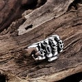 Vienna Jewelry Fistfull of Skulls Stainless Steel Ring - Thumbnail 1