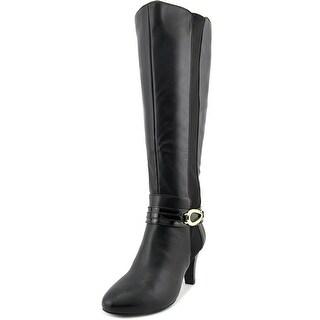 Karen Scott Holdenn Wide Calf Women Round Toe Synthetic Black Knee High Boot