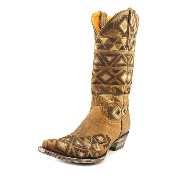 """Old Gringo Durango 13"""" Women  Pointed Toe Leather Brown Western Boot"""