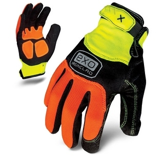 Ironclad EXO-HZA-06-XXL Hi-Viz Abrasion Gloves, XX-Large