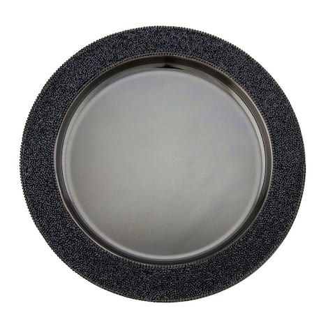 Sparkles Home Luminous Rhinestone Charger Plate
