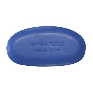 Kemper Molded Finishing Tool, 4-1/2 in, Soft Rubber, Blue