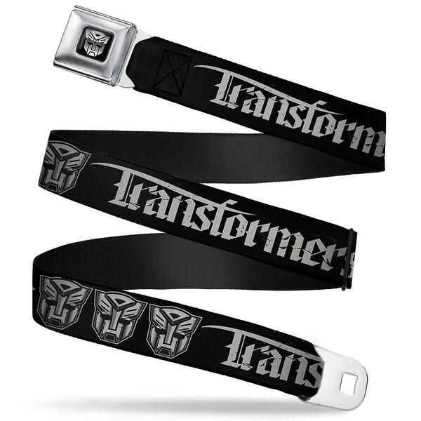Transformers Autobot Logo Black Silver Transformers Old English Autobot Seatbelt Belt