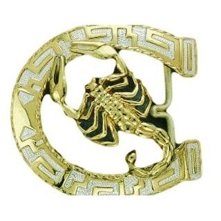 Crumrine Western Belt Buckle Horseshoe Scorpion Silver Gold C10881 - 3 x 3