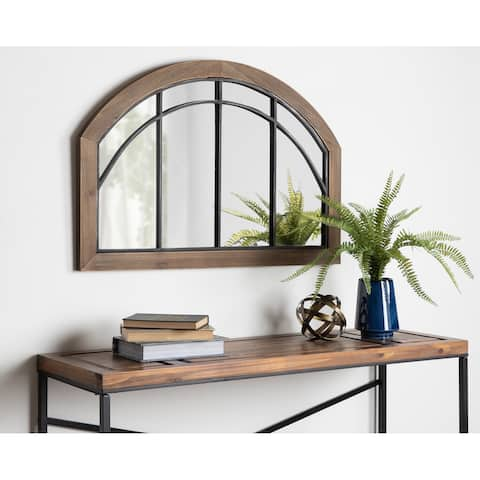 Kate and Laurel Haldron Wood Arch Mirror - 24x36