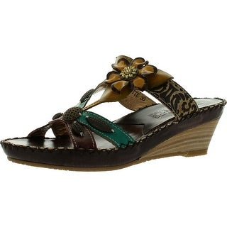 Spring Step Women Charlotte Sandals - brown leather - 36 m eu / 5.5-6 b(m) us