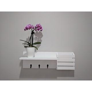 Danya B. Utility Shelf with Pocket and Hanging Hooks