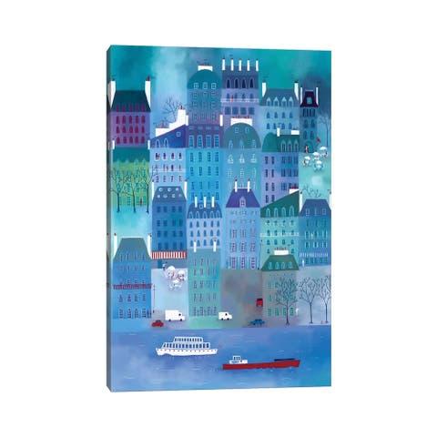 "iCanvas ""Paris Blues"" by Nic Squirrell Canvas Print"