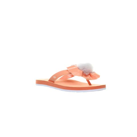 UGG Womens Poppy Fusion Coral Flip Flops Size 7