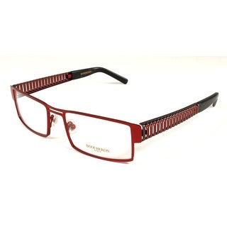 Boucheron Unisex Rectangular Eyeglasses Red/Gold - S