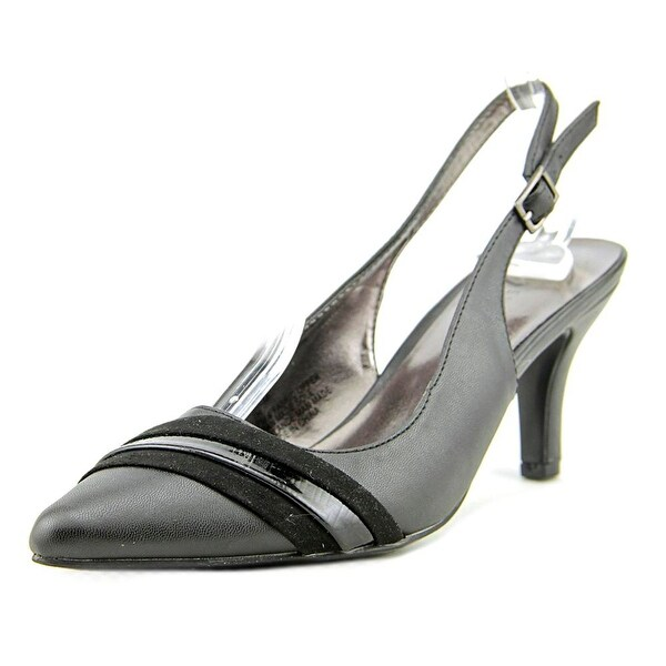 Karen Scott Ginaa Women Pointed Toe Synthetic Black Slingback Heel