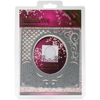 Find It Trading Jeanine's Art Garden Classics Die-Lace Frame, Center Oval