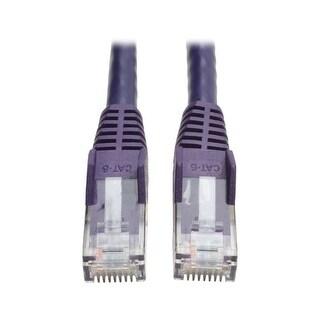 Tripp Lite Cat6 Gigabit Snagless Molded Patch Cable (Rj45 M/M) - Purple, 14-Ft