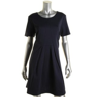 BCBGeneration Womens Pleated Short Sleeves Wear to Work Dress