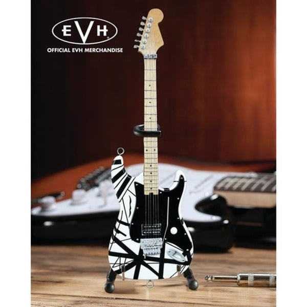 Axe Heaven EVH-003 Eddie Van Halen Black & White Mini Guitar