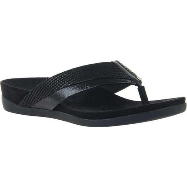 beadf4b29df3 Shop OTBT Women s Emmeth Thong Sandal Black Leather - Free Shipping ...