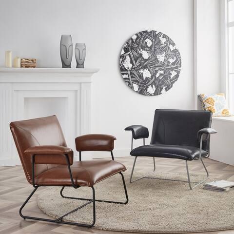 Corvus Deborah Bonded Leather Lounge Arm Chair