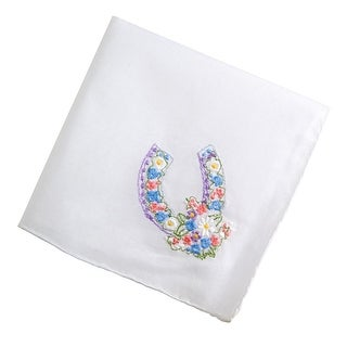 Lucky You Horseshoe Embroidered Handkerchief
