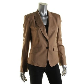 BOSS Hugo Boss Womens Juljanella2 Wool Long Sleeves Two-Button Blazer - 8