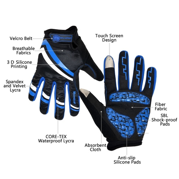 Bicycle Gloves Full Finger Lycra Windproof Outdoor Sports Gloves Touch Screen