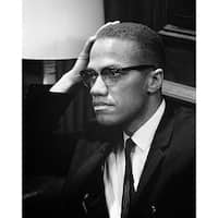 ''Malcolm X, Washington DC, 1964'' by McMahan Photo Archive African American Art Print (10 x 8 in.)