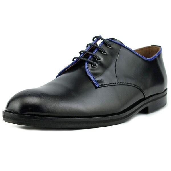 B Store Gordon 1 Men Round Toe Leather Black Oxford