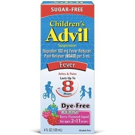Advil Children's Suspension Sugar Free, Dye Free, Berry 4 oz