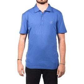 Versace Collection Men's Soft Cotton Polo Shirt Royal Blue