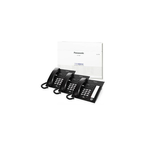 Panasonic KX-TA824-7720B Advanced Hybrid Telephone / Intercom System + 3 Hybrid Phones (KX-T7720)