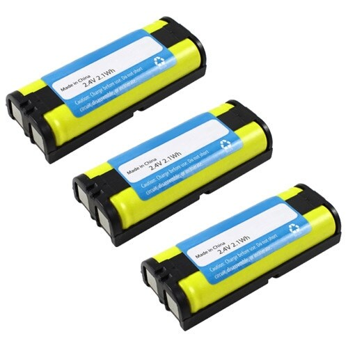 Replacement Panasonic KX-TG6700 NiMH Cordless Phone Battery (3 Pack)