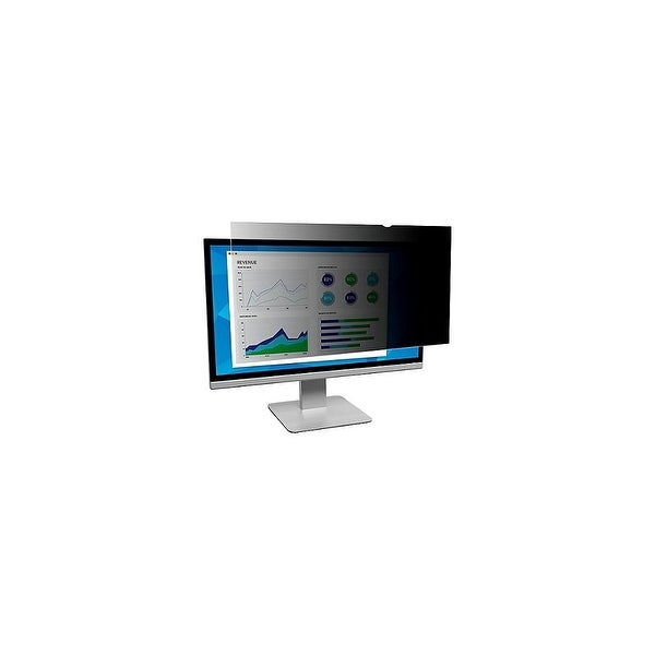 3M Frameless Blackout Privacy Filter Privacy Filter for Widescreen Desktop Monitor 19.5 Inch