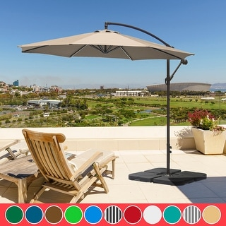 Link to Hull 10-ft.Umbrella and Base Weight Set Included Similar Items in Patio Umbrellas & Shades