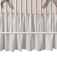 Lambs & Ivy Pink Signature Mix & Match Metallic Crib Skirt
