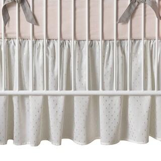Lambs & Ivy Pink Signature Mix & Match Metallic Crib Skirt