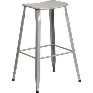 Mayworth Chrome 19 Inch Barstool Set Of 2 By Christopher