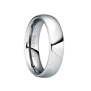 IULIUS Polished Tungsten Carbide Comfort Fit Ring by Crown Ring