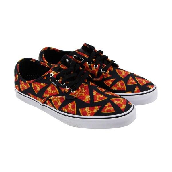 6ce29199c8f9 Vans Chima Ferguson Pro Mens Black Orange Textile Lace Up Sneakers Shoes