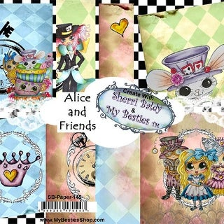 "My Besties Single-Sided Paper 6""X6"" 8/Pkg-Alice & Friends"