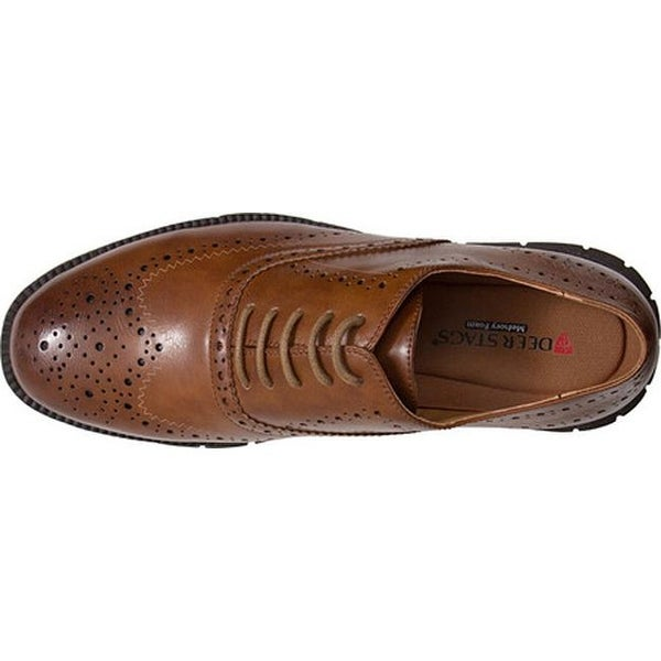 Mens Tan Deer Stags Benton  Dress   Dress Shoes